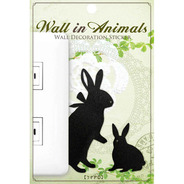 【SALE】ウォールステッカー Wall In Animals うさぎ2