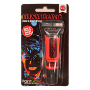 GLOW IN THE DARK グローインザダーク フェイス&ボディペイント レッド [Glow In The Dark Face & Body Paint (red)]