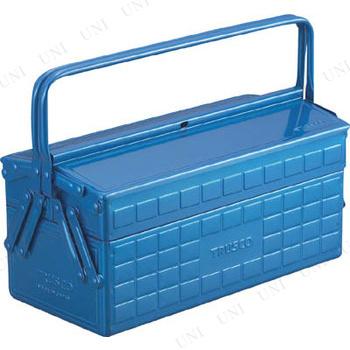 【取寄品】 TRUSCO 2段工具箱 350X160X260 ブルー ST-3500B
