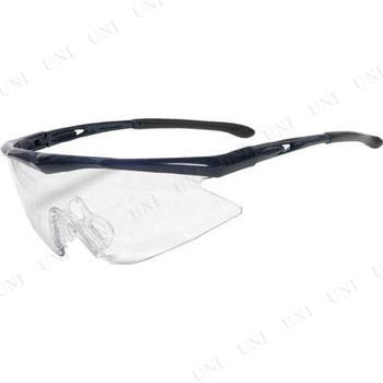 【取寄品】 TRUSCO 一眼型安全メガネ スポーツタイプ フレームブルー レンズクリア