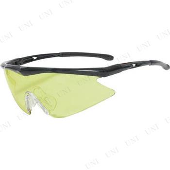 【取寄品】 TRUSCO 一眼型安全メガネ スポーツタイプ フレームブラック レンズイエロー