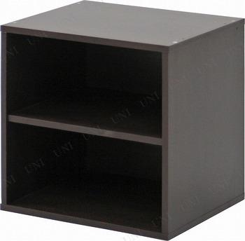 【取寄品】 [2点セット] キューブボックス 棚付 ブラウン CB35SH(BR)