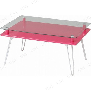 【取寄品】 ディスプレイテーブル クラリス ピンク