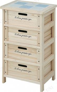 【取寄品】 木製4段ボックス