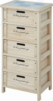 【取寄品】 木製5段ボックス