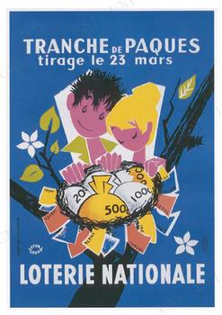 【取寄品】 LOTERIE NATIONALE 1956年5月 ポスター