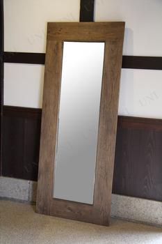 【取寄品】 大型木彫ミラー 幅80cm×高さ200cm
