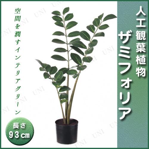【取寄品】 人工観葉植物 ザミフォリア(ポット付) 93cm