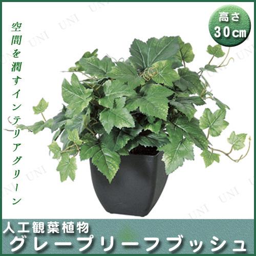 【取寄品】 人工観葉植物 グレープリーフブッシュ(ポット付) 30cm