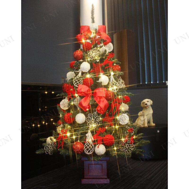 [残り2本] クリスマスツリー セットツリー プレミアム優 レッド&ホワイト 150cm