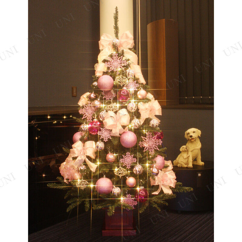 [残り2本] クリスマスツリー セットツリー プレミアム優 ピンク 150cm