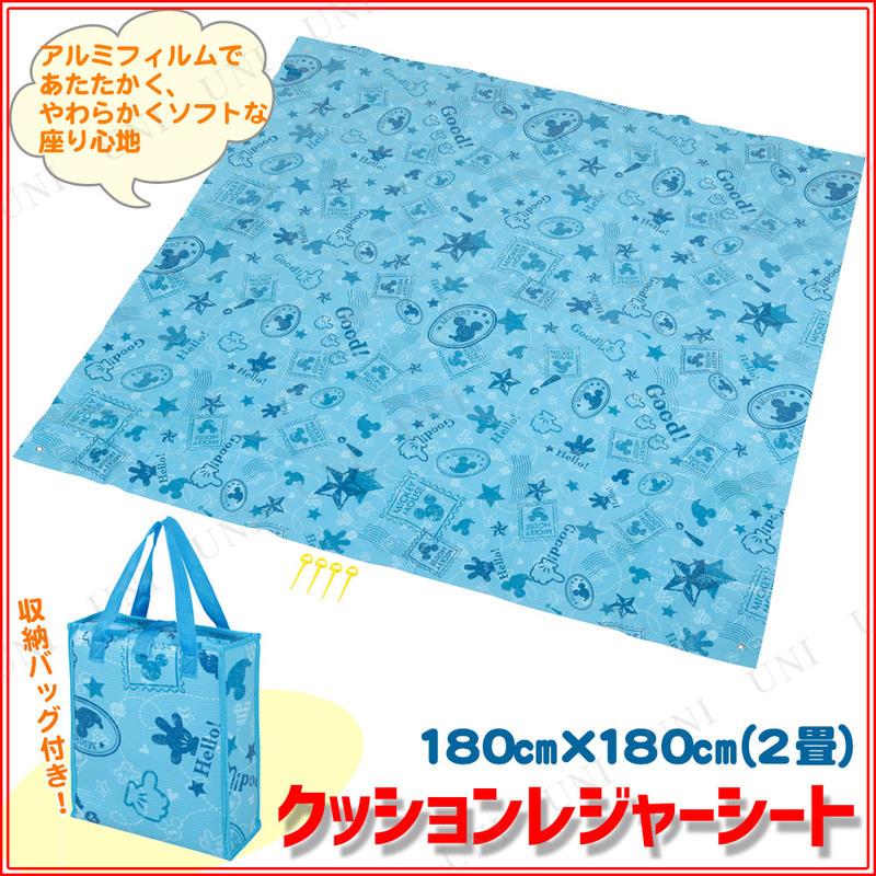 ディズニー クッションレジャーシート 180×180cm ミッキーマウス/切手