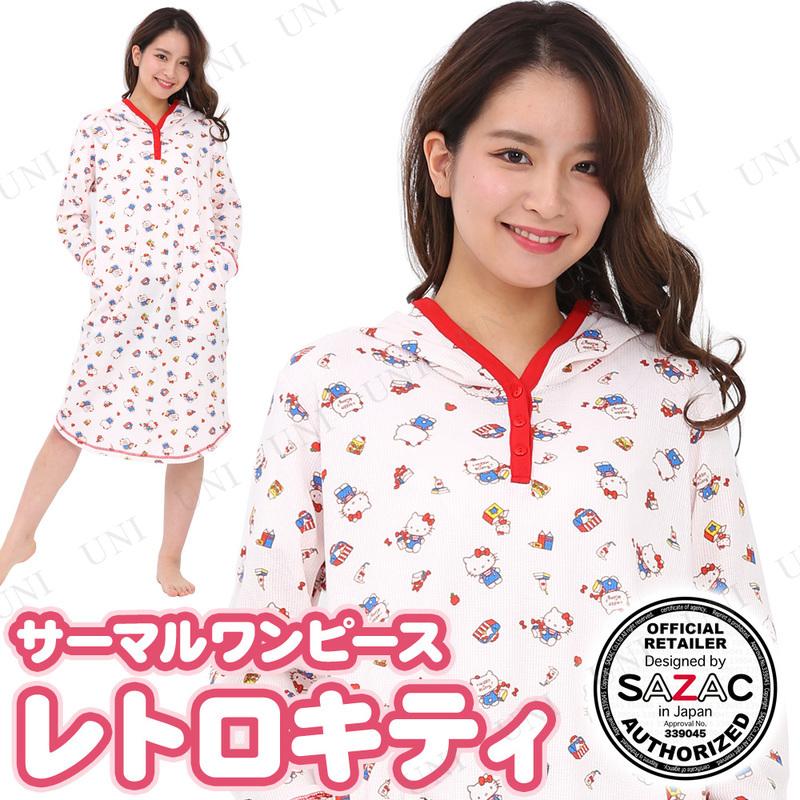 SAZAC(サザック) レトロキティサーマルワンピース ピンク M〜L