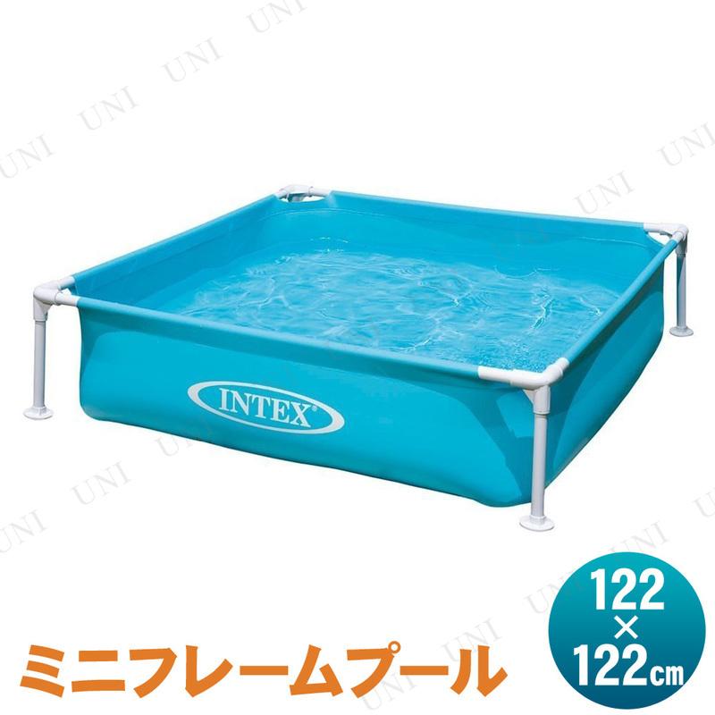 【取寄品】 INTEX(インテックス) ミニフレームプール ブルー 122×122cm