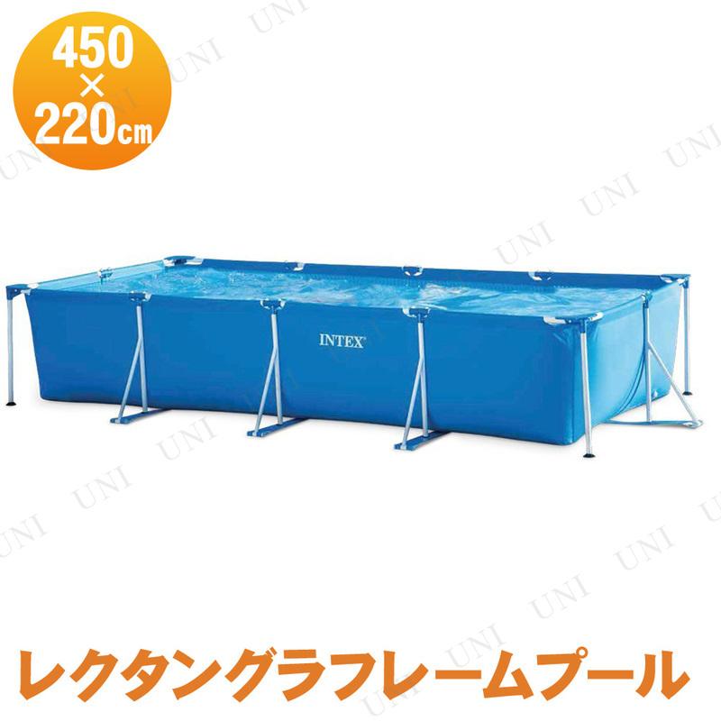 【取寄品】 INTEX(インテックス) レクタングラフレームプール 450×220×84cm