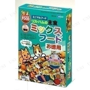 【取寄品】 マルカン リス・ハムスターの主食 ミックスフード お徳用 500g