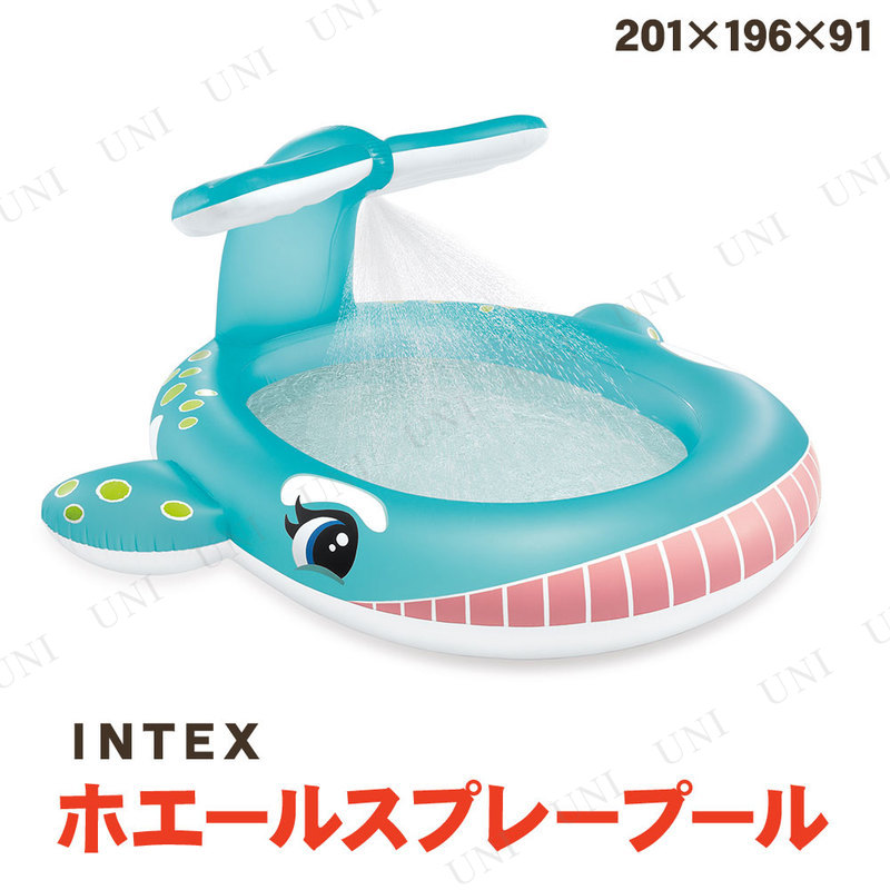 【取寄品】 INTEX(インテックス) ホエールスプレープール 201×196×91cm