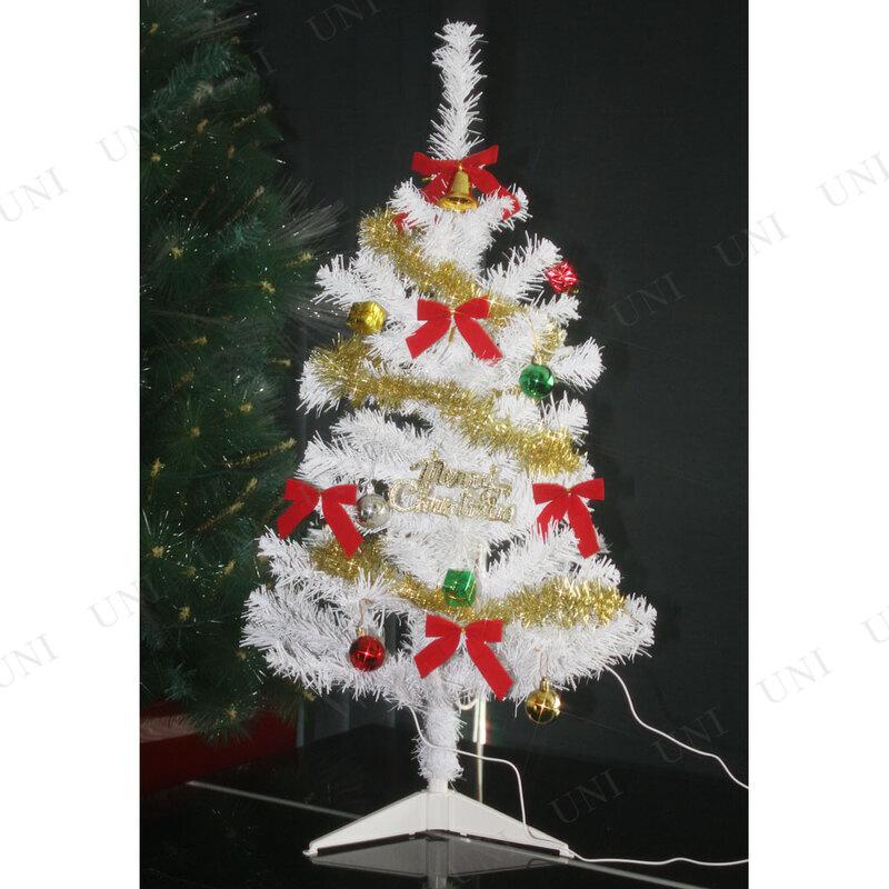 クリスマスツリー ファミリーセットツリー分割型 ホワイト 90cm
