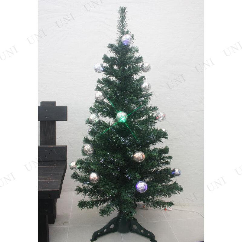 【残り1点のみ】 クリスマスツリー 3Dギャザーファイバーツリー LED付 120cm