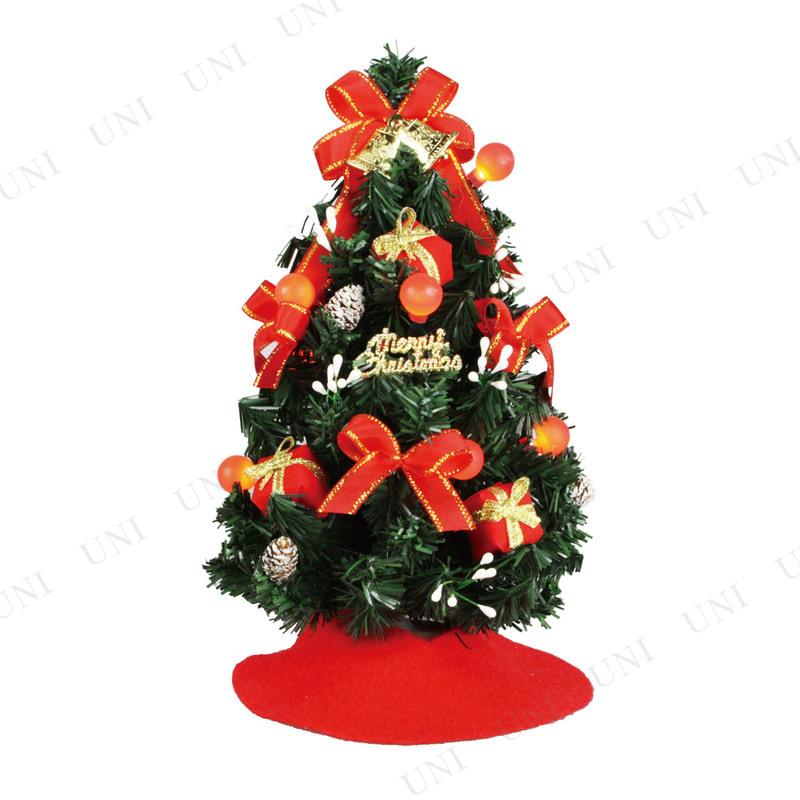 【取寄品】 クリスマスツリー デコレーションツリー グローブライトレッド 23cm