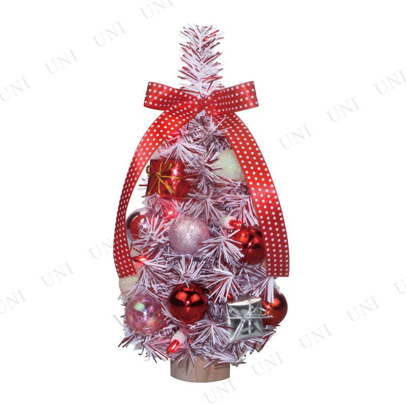 クリスマスツリー デコレーションツリー ピンクスノー 26cm (10球)