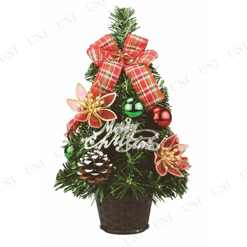 【取寄品】 クリスマスツリー デコレーションツリー レッドフラワー 30cm