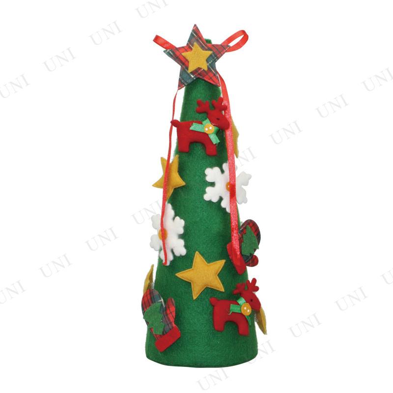 【取寄品】 クリスマスツリー フェルトツリー グリーン 30cm