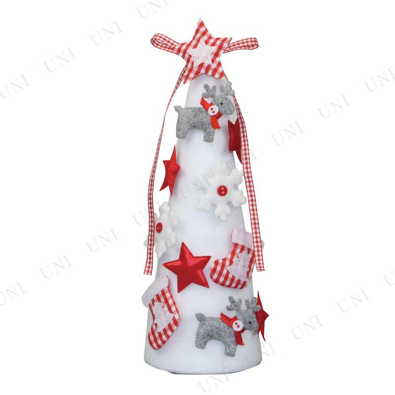 【取寄品】 クリスマスツリー フェルトツリー ホワイト 30cm