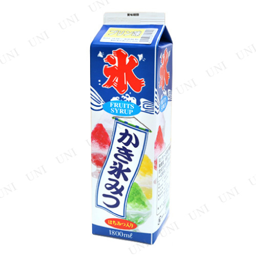 【取寄品】 景品 子供 [2点セット] ストレート氷蜜 プリン 1.8L (かき氷シロップ)