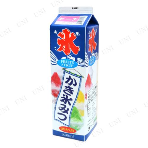 【取寄品】 景品 子供 [2点セット] ストレート氷蜜 ピーチ 1.8L (かき氷シロップ)