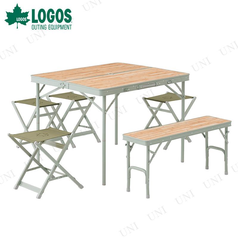 【取寄品】 LOGOS (ロゴス) Life ベンチテーブルセット6
