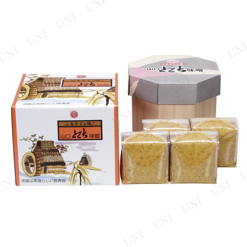 【山口県産品】【取寄品】 山口とくぢ味噌 麦つぶみそ樽箱入り 4kg(1kg袋×4)