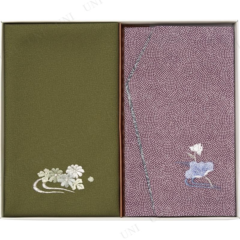 【取寄品】 洛北 刺繍入り金封包み&金封ふくさ 紫蓮