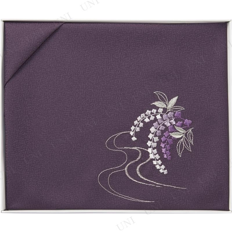 【取寄品】 洛北 刺繍入り二巾風呂敷 紫
