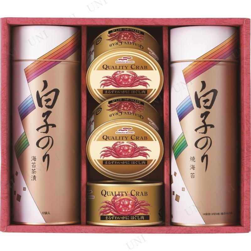 【取寄品】 白子のり 海苔とカニ缶詰合せ