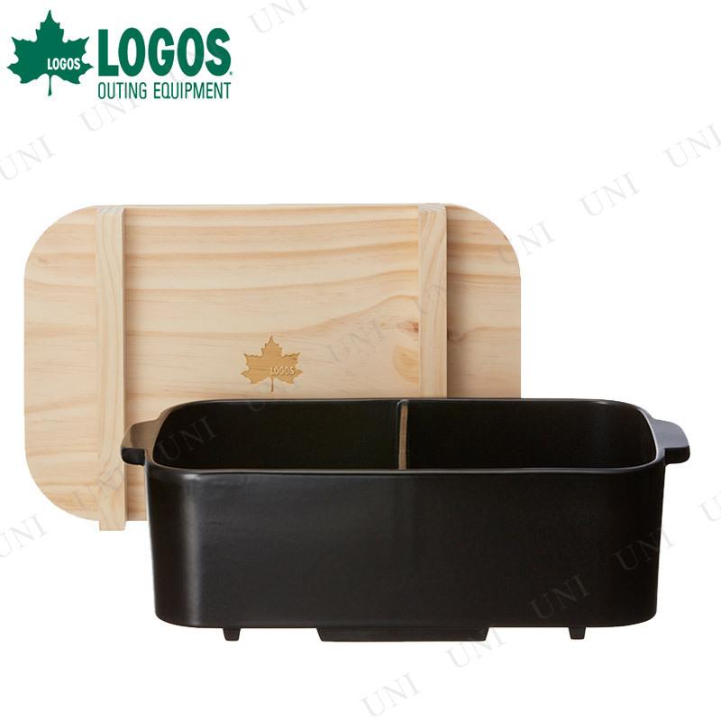 【取寄品】 LOGOS(ロゴス) 仕切おでん土鍋 (木葢付)