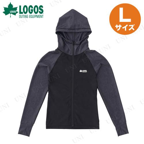 【取寄品】 LOGOS(ロゴス) レディース ラッシュガード(ブラック L)