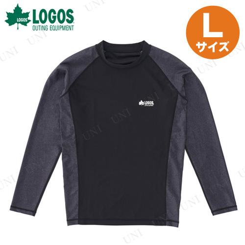 【取寄品】 LOGOS(ロゴス) メンズ ラッシュガード(ブラック L)