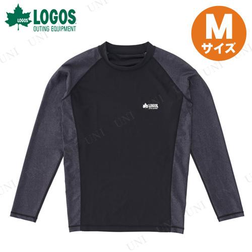 【取寄品】 LOGOS(ロゴス) メンズ ラッシュガード(ブラック M)