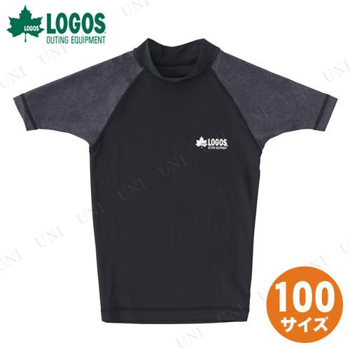 【取寄品】 LOGOS(ロゴス) キッズ ラッシュガード(ブラック 100)