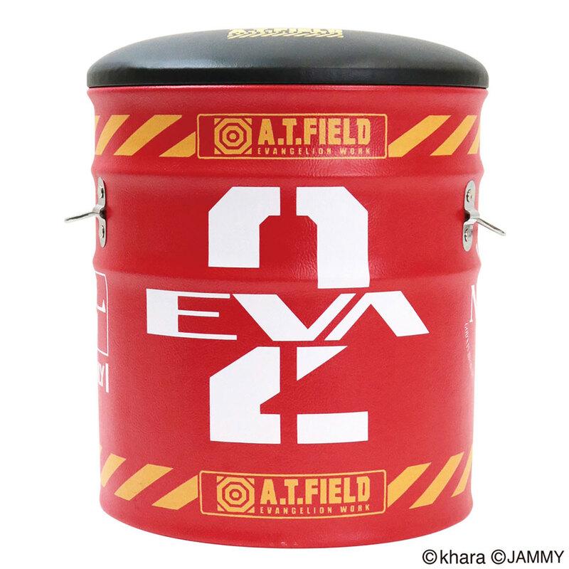 エヴァンゲリオン A.T.FIELD ペール缶スツール2号機