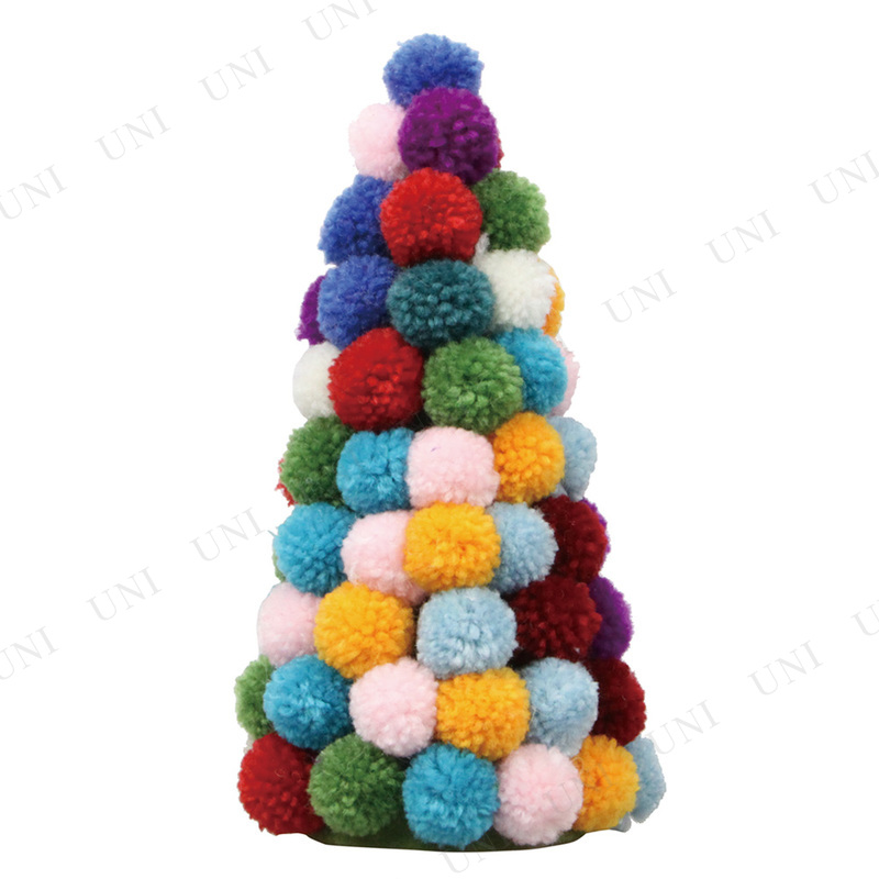 【取寄品】 クリスマスツリー [3点セット] ファブリックツリー 18cm