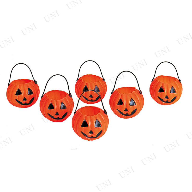 【取寄品】 ハロウィン パンプキンポット6P オレンジ