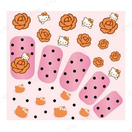 Pink House×キティ ネイルシール ドットローズ