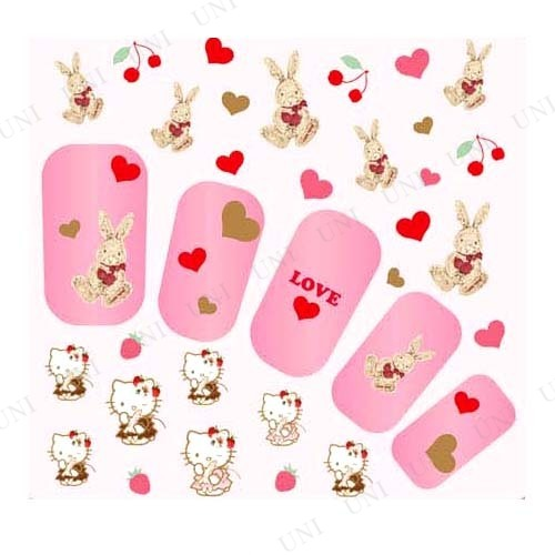 Pink House×キティ ネイルシール ラビット