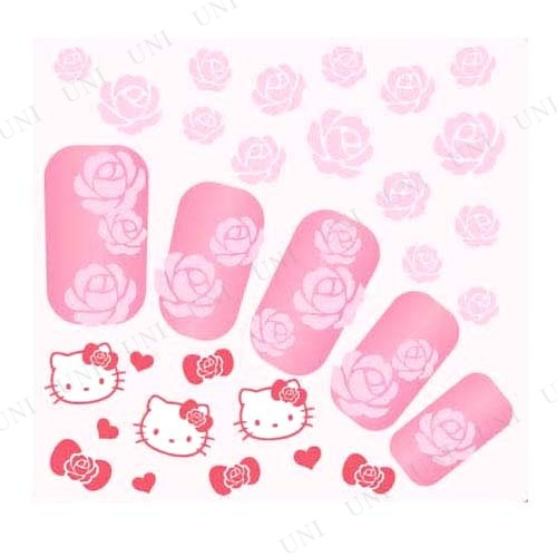 Pink House×キティ ネイルシール ローズ