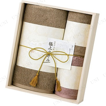 【取寄品】 極上タオル  バスタオル&フェイスタオル2枚セット(木箱入)