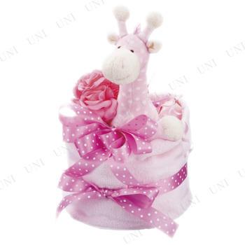 ミンクプラッシュ ミンクプラッシュ おむつケーキ 1段 ピンク