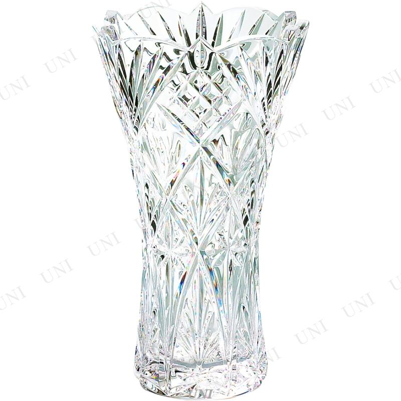 【取寄品】 グラスワークスナルミ フローラ 20cm花瓶