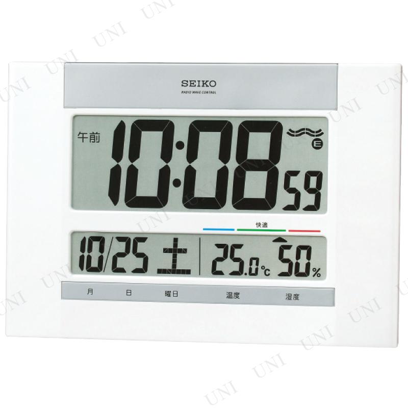 【取寄品】 温湿度計付掛置兼用電波時計